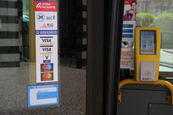 Płatność kartą w rybnickich autobusach