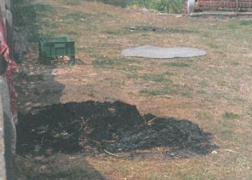 Znów spalano odpady zielone