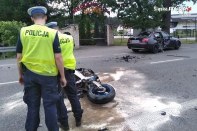 Tragiczne zdarzenie z udziałem motocyklisty