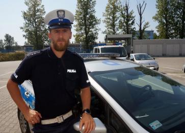 Policjant na rowerze zatrzymał porsche w Rybniku