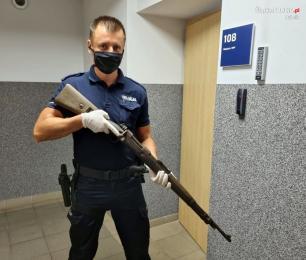 Odnalazł broń podczas remontu domu